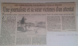 Le lieu de l'assassinat , sortie de la cité CNS - Chevalley -